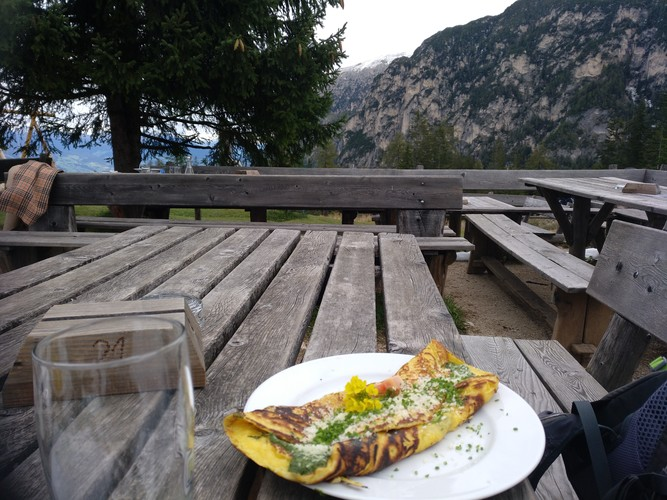 Omlette Tschafonhütte